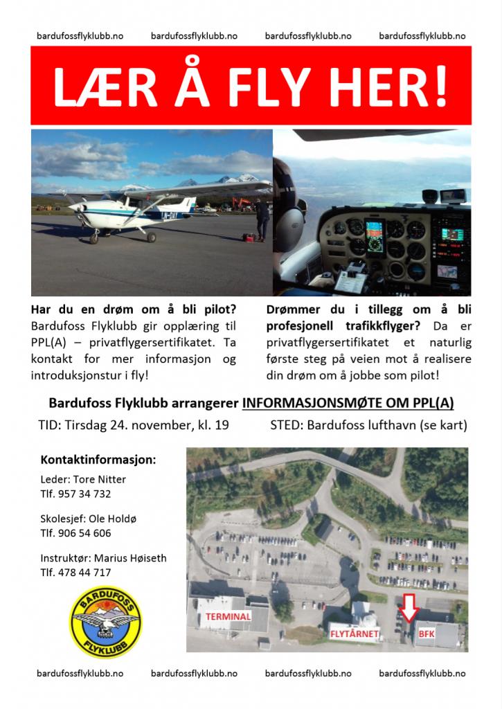 Lær å fly her - informasjonsmøte