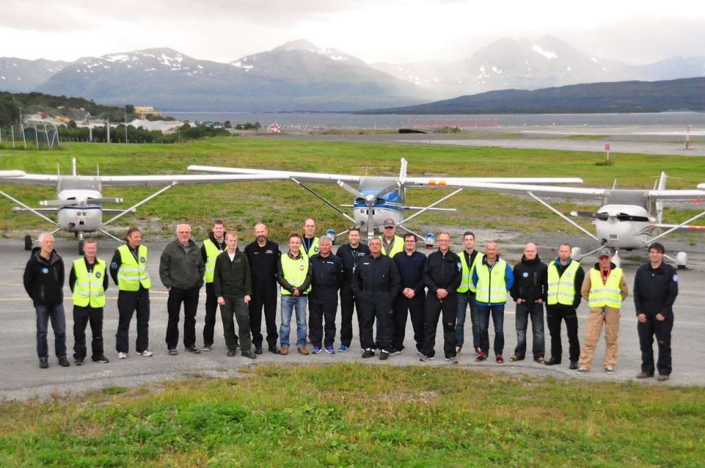 Deltakerne på Flytjenesten's øvelse 28.-30. august i Tromsø.