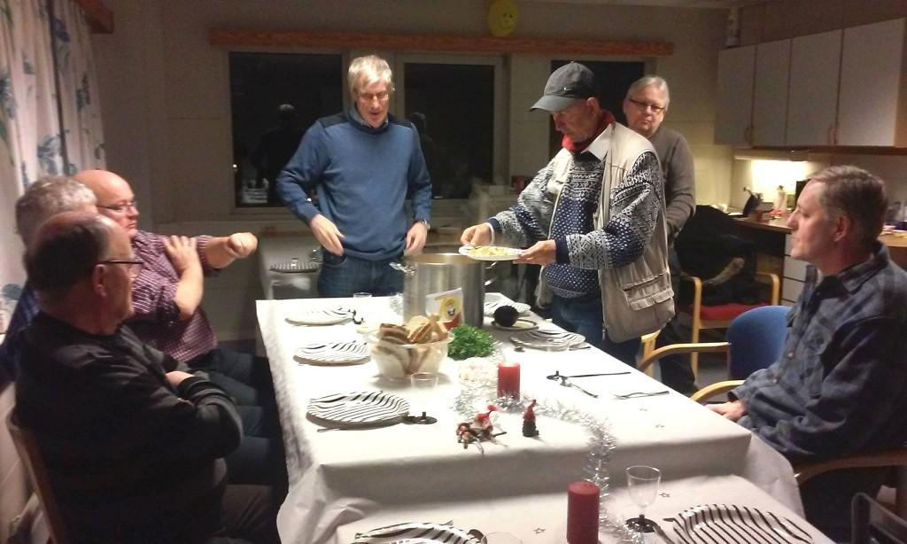 Hovedretten er servert på årets julemøte.