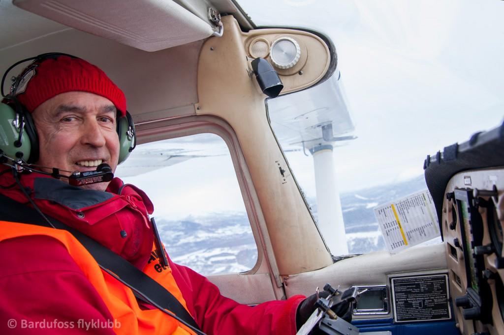 På flytur med Guy som pilot!