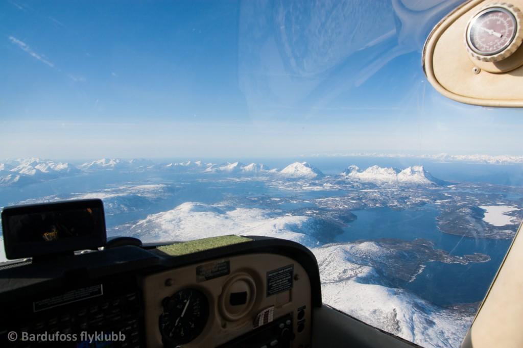 På flytur over Nordland et sted...